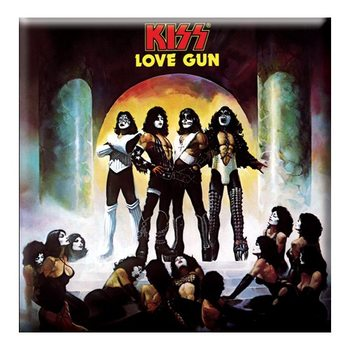 Kiss - Love Gun Album Cover Hűtőmágnes