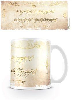 Tazza Il Signore degli Anelli - Ring Inscription