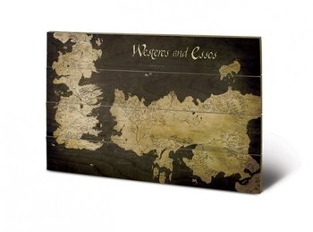 Poster su legno  Il Trono di Spade - Game of Thrones - Westeros