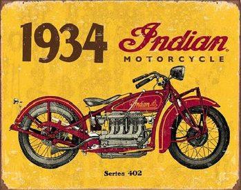 INDIAN MOTORCYCLES - 1938 Plaque métal décorée