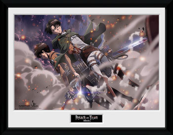 Attack On Titan - Smoke Blast indrammet plakat