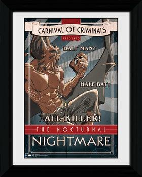 Batman Comic - Circus Nocturnal Nightmare indrammet plakat
