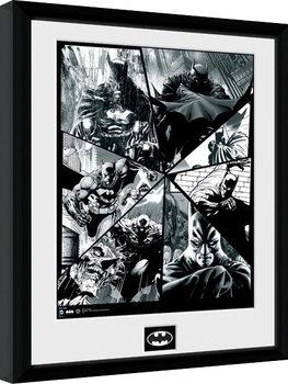 Batman Comic - Collage indrammet plakat