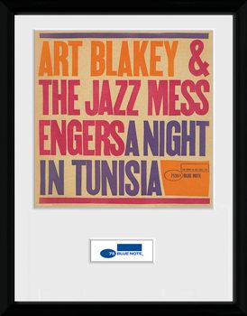Blue Note - Tunisia indrammet plakat