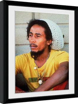 Bob Marley - Yellow indrammet plakat
