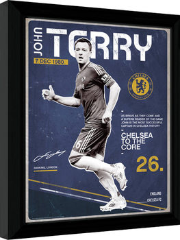 Chelsea - Terry Retro indrammet plakat