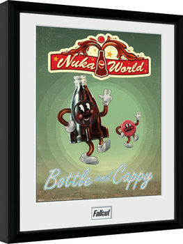 Fallout - Bottle and Cappy indrammet plakat