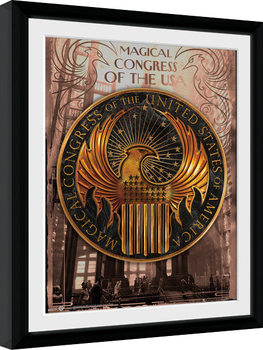 Fantastic Beasts And Where To Find Them - Magical Congress indrammet plakat