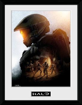 Halo - Master Chief indrammet plakat
