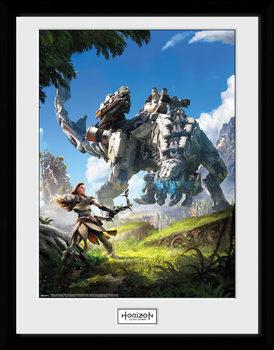 Horizon Zero Dawn - Key Art indrammet plakat