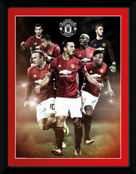 Manchester United - Players 16/17 indrammet plakat