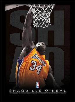 NBA - Shaq indrammet plakat