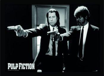 PULP FICTION - guns indrammet plakat