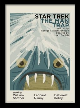 Star Trek - The Man Trap indrammet plakat