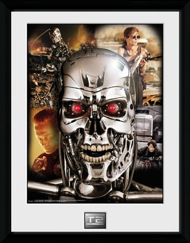 Terminator 2 - Collage indrammet plakat