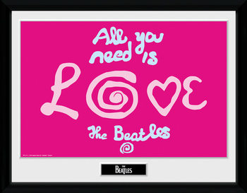 The Beatles - All You Need Is Love indrammet plakat