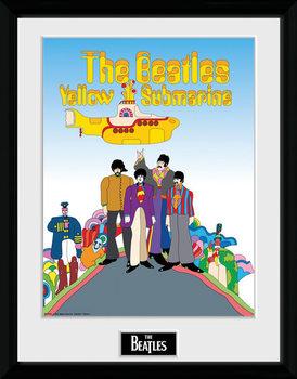 The Beatles - Yellow Submarine indrammet plakat