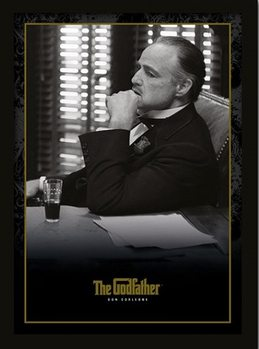 THE GODFATHER - Don Corleone indrammet plakat