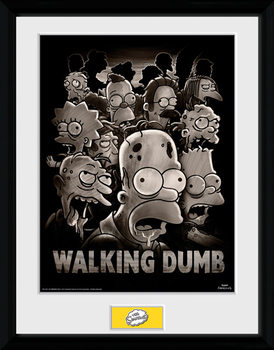 The Simpsons - The Walking Dumb indrammet plakat