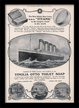 Titanic (4) indrammet plakat