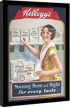 VINTAGE KELLOGGS - morning,noon & night indrammet plakat