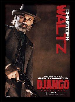 Django Unchained - Christoph Waltz Indrammet plakat