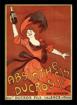 Absint - Absinthe Ducros ingelijste poster met glas