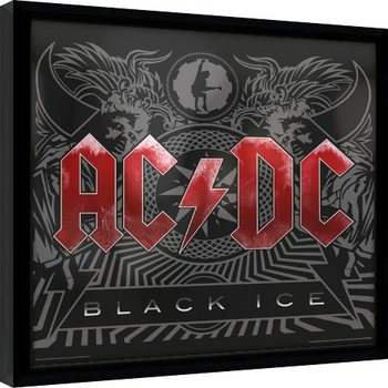 Ingelijste poster AC/DC - Black Ice