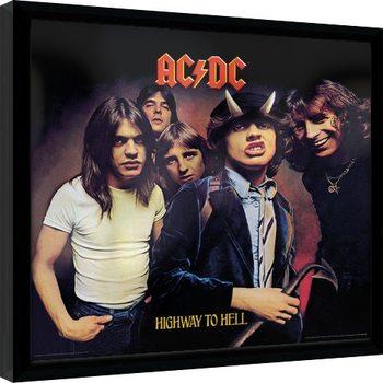 Ingelijste poster AC/DC - Highway To Hell