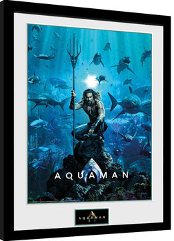 Ingelijste poster Aquaman - One Sheet