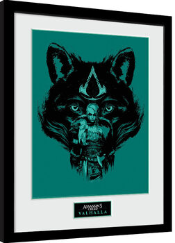 Ingelijste poster Assassin's Creed: Valhalla - Wolf