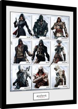 Ingelijste poster Assassins Creed - Compilation Characters