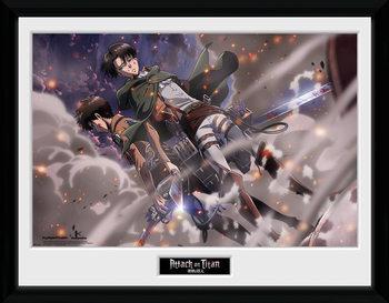 Attack On Titan - Smoke Blast ingelijste poster met glas