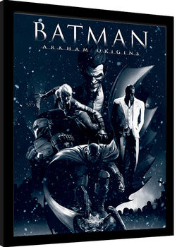Ingelijste poster Batman: Arkham Origins - Montage