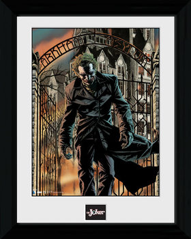 Batman Comic - Arkham Asylum ingelijste poster met glas