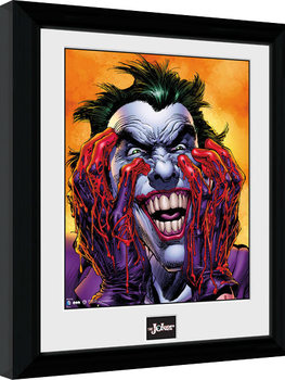 Ingelijste poster Batman Comic - Joker Laugh