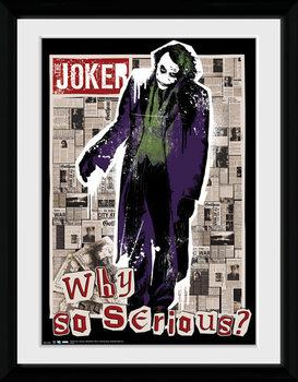 Batman The Dark Knight - Why So Serious ingelijste poster met glas