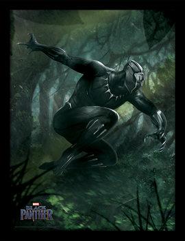 Ingelijste poster Black Panther - Forest Chase