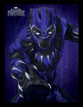 Ingelijste poster Black Panther - Glow