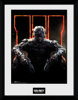 Call of Duty: Black Ops 3 - Cover ingelijste poster met glas