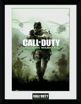 Call of Duty Modern Warfare - Key Art ingelijste poster met glas