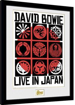 Ingelijste poster David Bowie - Live In Japan