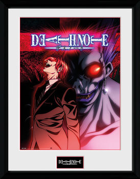 Death Note - Light & Ryuk ingelijste poster met glas