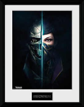 Dishonored 2 - Faces ingelijste poster met glas