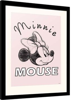 Ingelijste poster Disney - Minnie Mouse