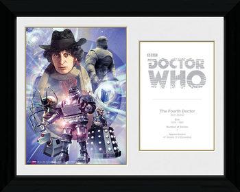 Doctor Who - 4th Doctor Tom Baker Ingelijste poster