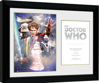 Ingelijste poster Doctor Who - 6th Doctor Colin Baker