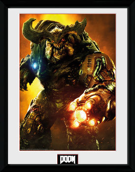 Doom - Cyber Demon ingelijste poster met glas