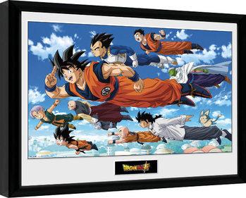 Ingelijste poster Dragon Ball - Flying