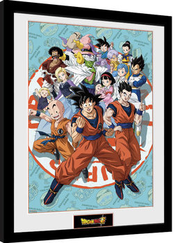 Ingelijste poster Dragon Ball Super - Universe Group